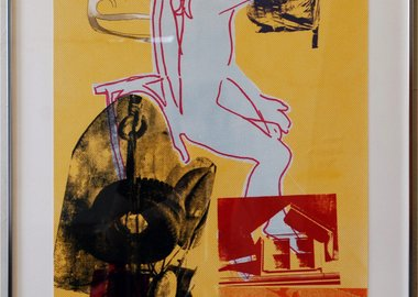 work by Robert Rauschenberg - Portrait of Merce