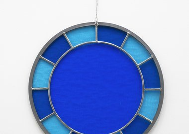 work by Ugo Rondinone - blue blue blue clock