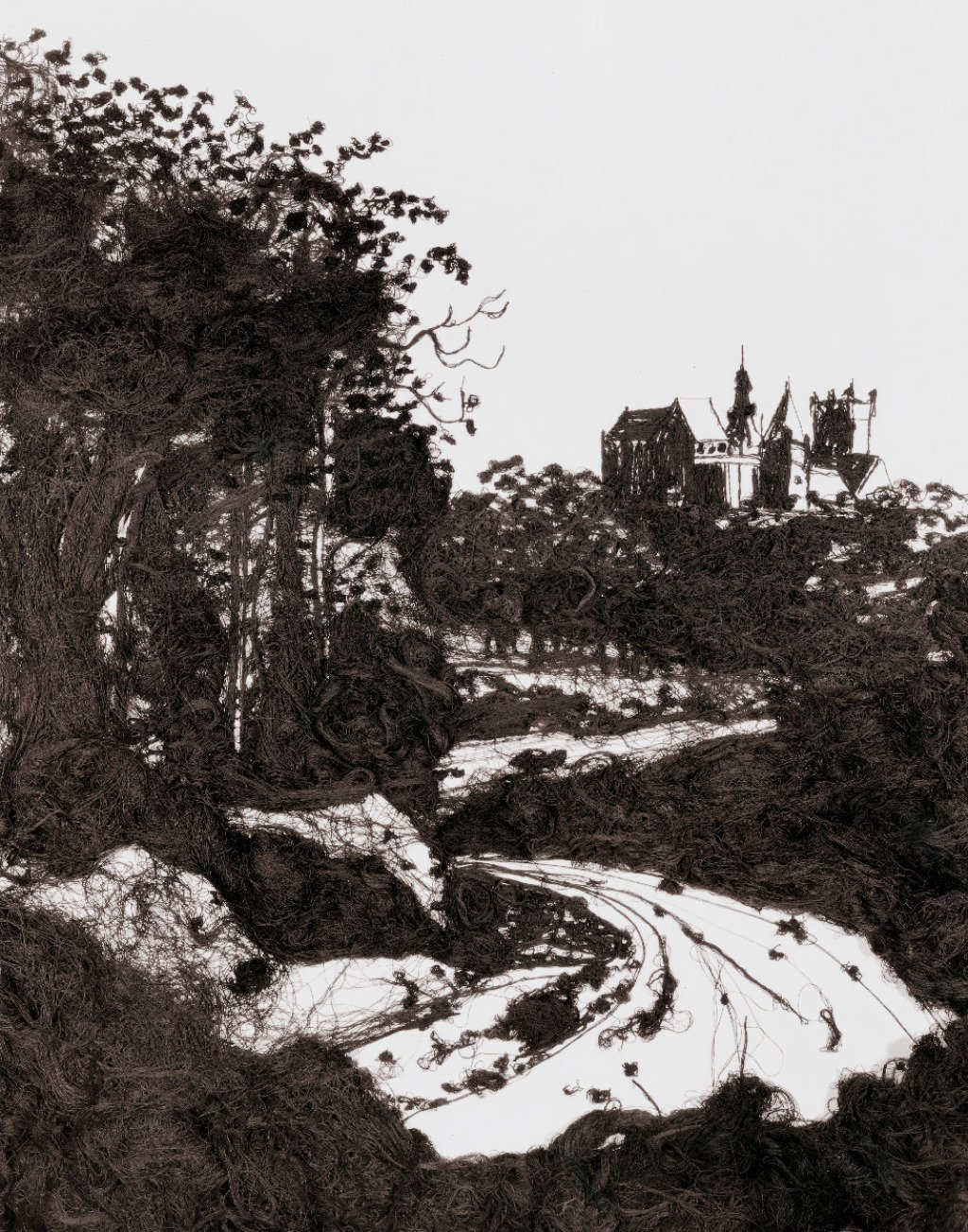 Vik Muniz, 20,000 Yards, The Castle at Bentheim, After Jacob Ruisdael