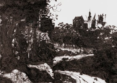 Vik Muniz - 20,000 Yards, The Castle at Bentheim, After Jacob Ruisdael