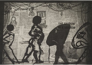 work by William Kentridge - The Nose