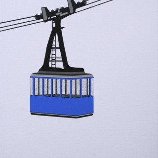 Aerial Tram Blue art for sale