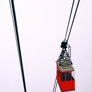 Aerial Tram Red art for sale