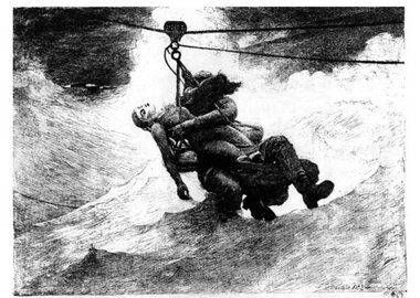work by Winslow Homer - Life Line