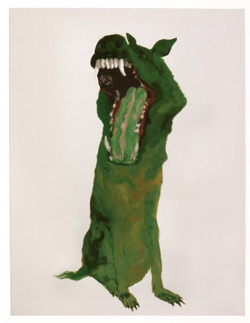 main work - Zhou Chunya , Green Dog